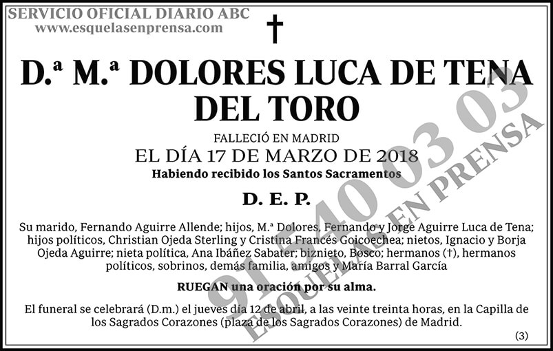 Dolores Luca de Tena del Toro